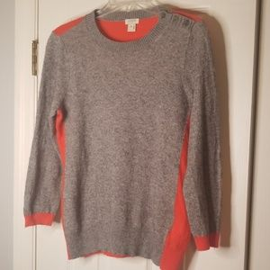 J.Crew Orange & Grey Sweater